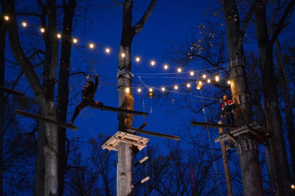 glow in the park night zipline event